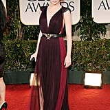 Emma Stone channeled dark glamour on the 2012 Golden Globes red carpet in this two-toned Lanvin gown.