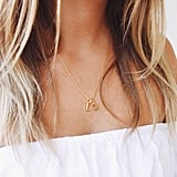 Holly Blake 18ct Gold Vermeil Initial Charm Necklace