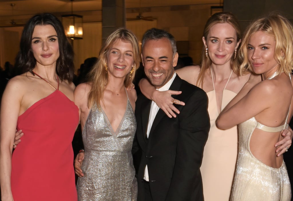 Rachel Weisz, Melanie Laurent, Francisco Costa, Emily Blunt, and Sienna Miller