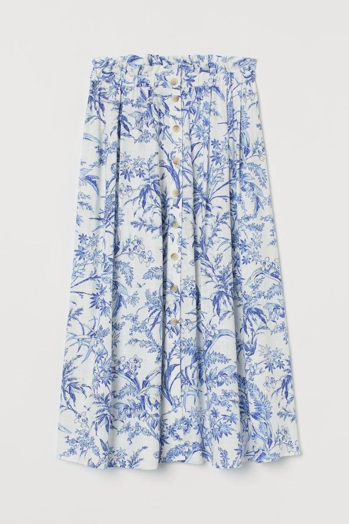Linen-blend Skirt