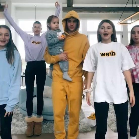 Justin Bieber's TikTok Dance With Siblings Wearing Drew