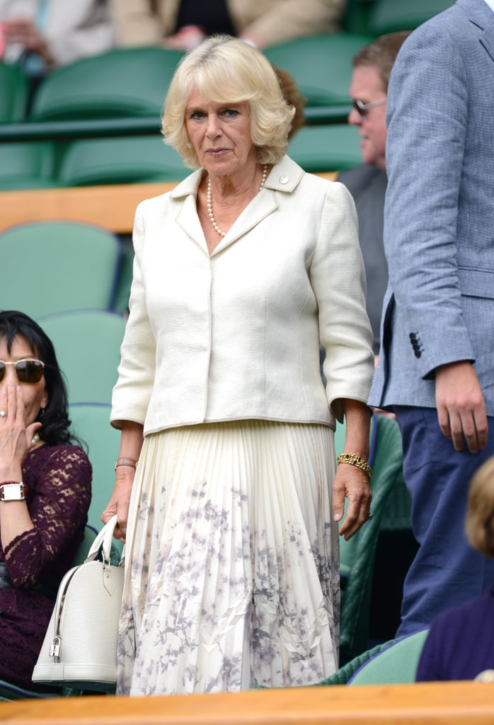 On Thursday, Camilla, Duchess of Cornwall, was in attendance to take in the action at day three of Wimbledon in London.