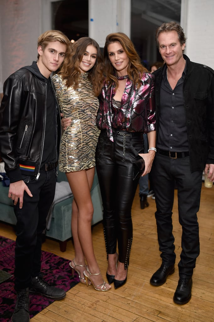 Cindy Crawford and Kaia Gerber Wearing Metallic Statement Pieces in 2017