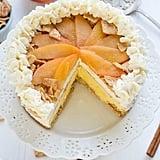 Peach Cobbler Ice Cream Cake With Cinnamon Toast Crunch Crust
