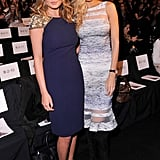 On Tuesday, Chrissy Teigen and Petra Nemcova attended Badgley Mischka's event.