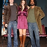 Ian Somerhalder  joined Lost stars Evangeline Lilly and Naveen Andrews at a sci-fi event in LA in March 2006.