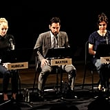 Emma Stone read alongside Paul Rudd and Cara Buono for a live reading of The Apartment in NYC.