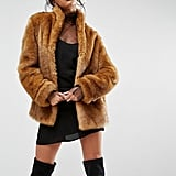 ASOS Coat in Vintage Faux Fur
