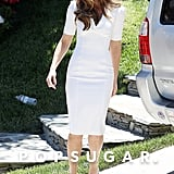 Kate Beckinsale wore a sexy white dress.