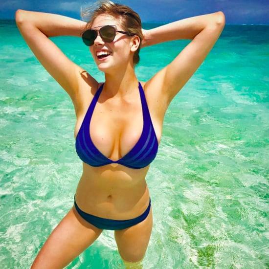 Kate Upton Blue Bikini Instagram