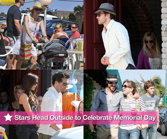 Stars Head Outside to Celebrate Memorial Day