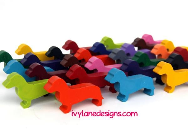 Colorful Dachshund Crayons