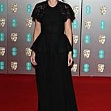 BAFTAs 2020: Margot Robbie's Black Lace Chanel Gown