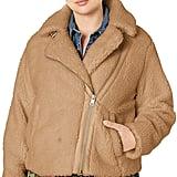 Levi's The Megan Sherpa Asymmetrical Moto Jacket
