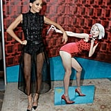 Nicole Richie had fun with a cardboard cutout of herself at a Candidly Nicole event in LA on Tuesday.