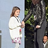 The 2015 Global Citizen Festival in Central Park in NYC had a guest appearance from Suri and Katie.
