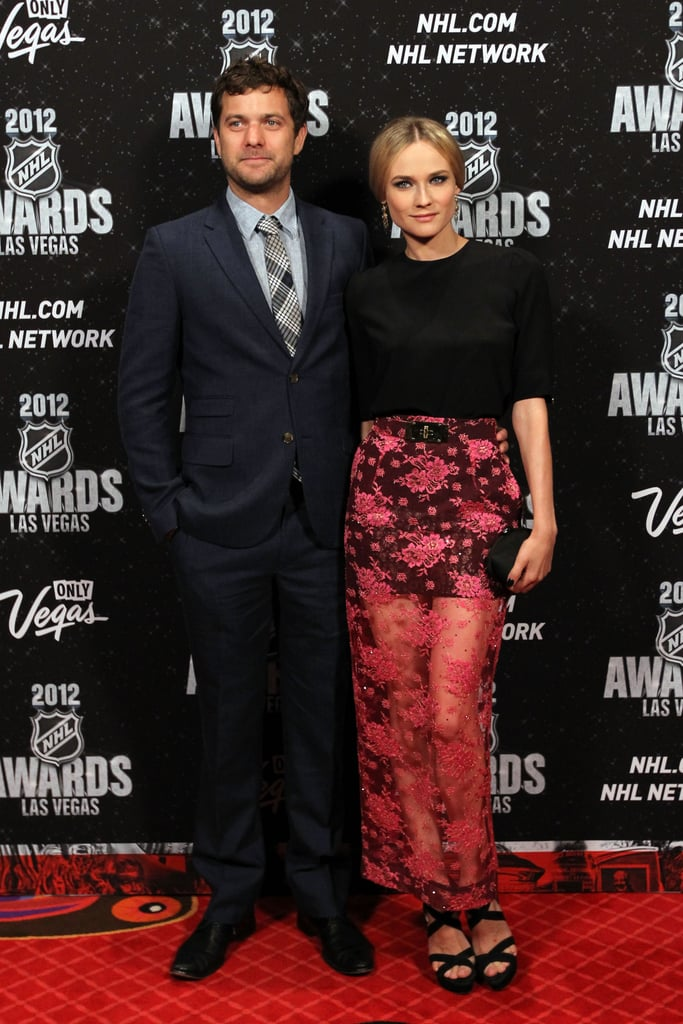 Diane Kruger showed off her legs in a sheer skirt at the NHL Awards in June 2012.