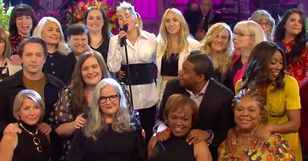 Miley Cyrus Performed Godmother Dolly Parton's Song For Sweet Mother's Tribute on SNL.jpg