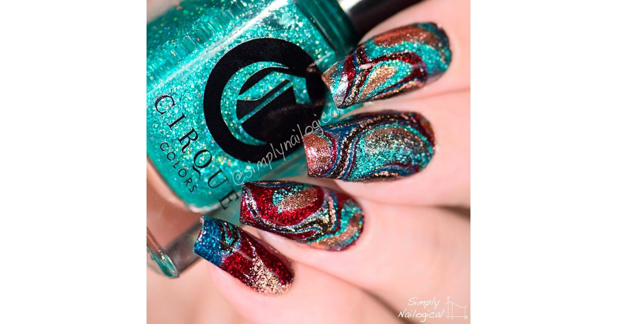 Water Marble Nails Without Water Popsugar Beauty Uk