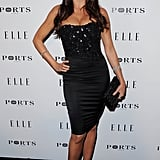 Monochromatic was the word at the 2011 Elle Women in Television Event. Sofia styled a strapless textured dress, complete with pailletted bodice and satin pencil skirt, with lace pumps and a black box clutch.