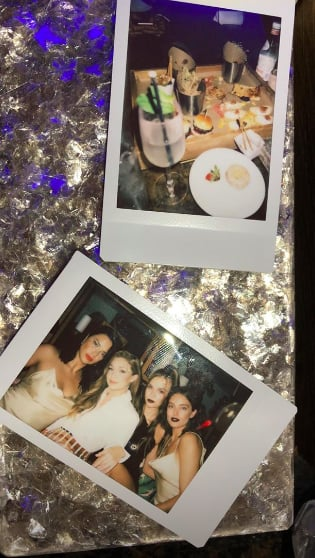 Adriana Lima Shared Polaroids From the Maybelline Party