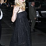 Claire Danes waved in NYC.