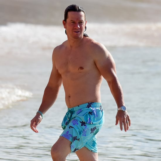 Mark Wahlberg Shirtless on the Beach in Barbados 2016