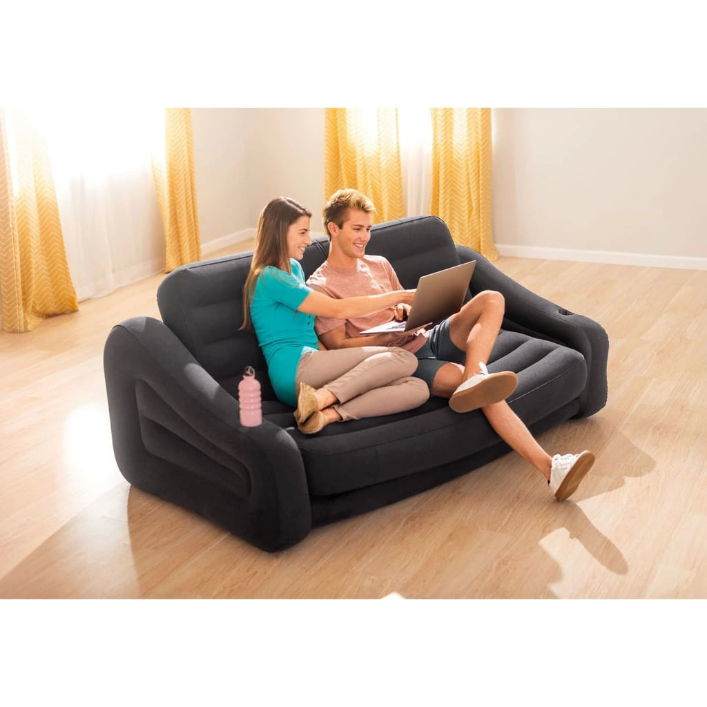 Intex Inflatable Queen Size Pull Out Futon Sofa Couch Bed