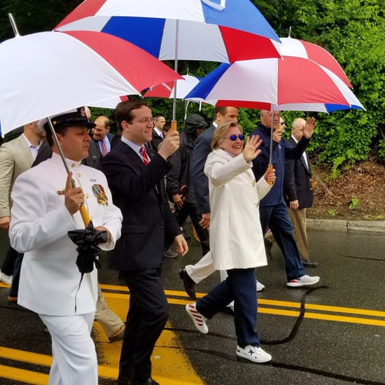 Hillary Clinton's Kenneth Cole Sneakers on Memorial Day