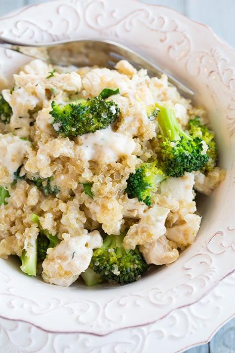 Creamy Broccoli And Chicken Quinoa Casserole  Chicken Casserole Recipes  Popsugar -8077