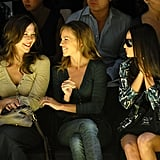 The Miss Sixty front row included Maggie Gyllenhaal, Hilary Swank, and Demi Moore in February 2007.