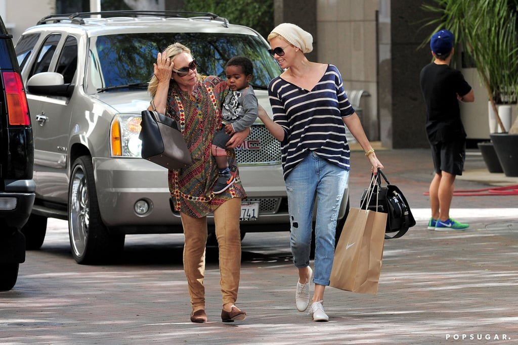 Charlize Theron and her mom Gerda took Jackson shopping in LA.