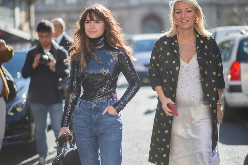 You can work a sequined turtleneck with a pencil skirt, or denim on your day off.