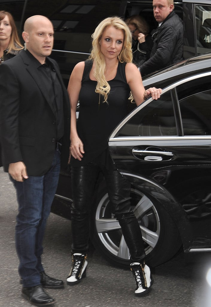 Britney Spears headed to London to promote her upcoming album.