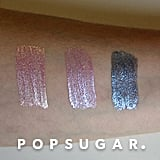 Swatch of New Stila Magnificent Metals Glitter & Glow Liquid Eye Shadows on Light Skin