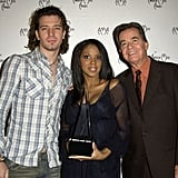 JC Chasez, Toni Braxton, and Dick Clark met up during the 30th annual American Music Awards nominations in LA during November 2002.