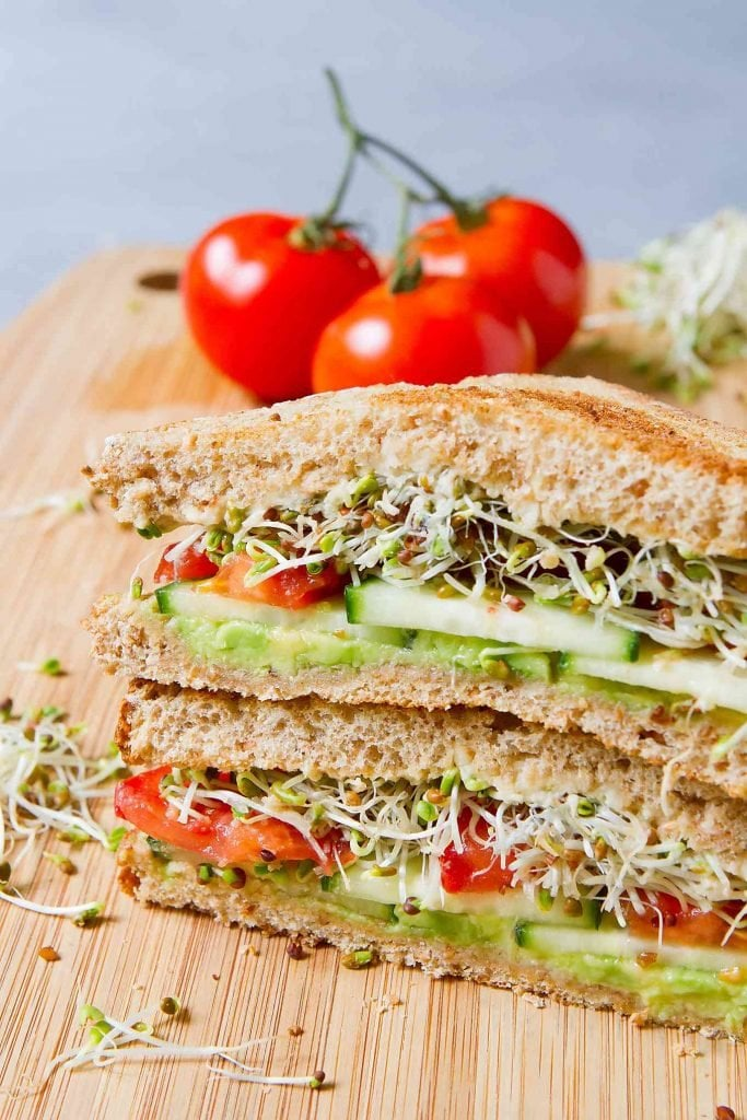 Vegan Hummus Avocado Sandwich