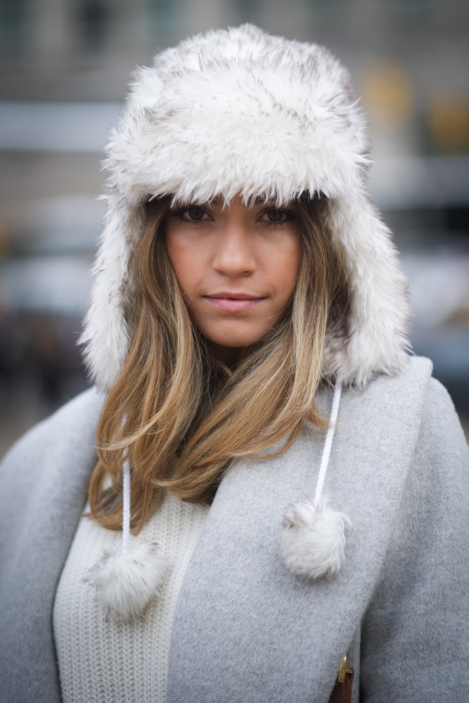 Fashion and function in the form of a furry trapper hat.