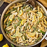 1-Pan Creamy Lemon Pasta With Chicken and Asparagus