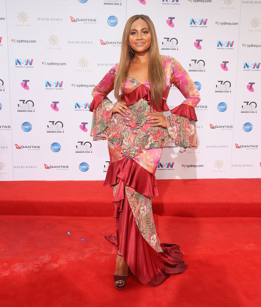Jessica Mauboy at the 2016 ARIA Awards
