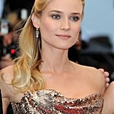 Diane Kruger Glows in Gold With Joshua Jackson at Cannes