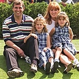 Beatrice and Eugenie were front and centre (in matching dresses!) in this cute family snap from a golf tournament in 1996.