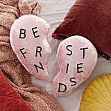 Best Friends Heart Velvet Pillow Set