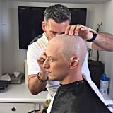 James McAvoy got in character by shaving off his locks.