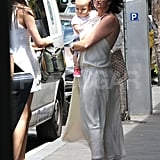 EXCLUSIVE TO INF ALLROUNDER. January 29, 2012: Model Miranda Kerr with baby Flynn and her mother Therese at The Winery Restaurant in Surry Hills, Sydney. Mandatory Credit: Andy Athineos/INFphoto.com Ref.: infausy-10