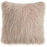 Horchow Khan Mauve Faux-Fur Pillow ($125)