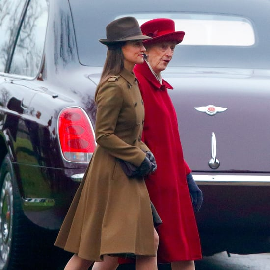 Pippa Middleton Brown Coat Jan. 2017
