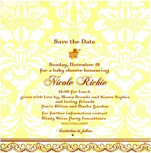 Celebaby: Nicole Richie's Baby Shower Invitation