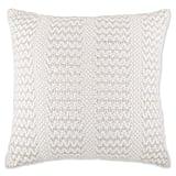 Metallic Cottage Stripe Oversized Throw Pillow  in Ivory