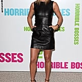 Jennifer Aniston sported numerous sexy styles while promoting Horrible Bosses — and the leather Céline mini and embellished Gucci sandals she sported in London were no exception.